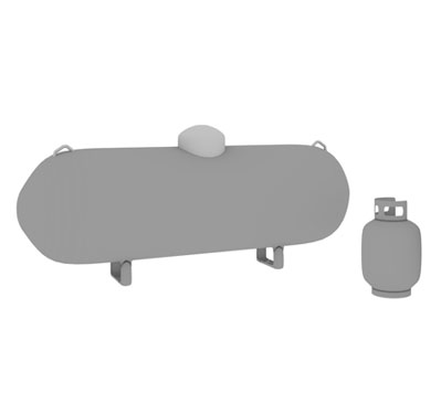 Different propane tank sizes